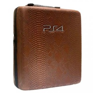 کیف ضدضربه PS4 Pro  Hard Case - Snake Leather2  Brown