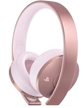 هدست گلد PlayStation Gold Wireless Headset Rose Gold - PS4