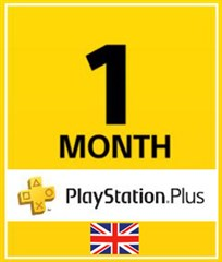 PSN پلاس 1 ماهه  Play online UK PLAYSTATION PLUS