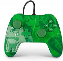 دسته بازی سوییچ  PowerA Nintendo Switch Controller Green Bulbasaur Edition